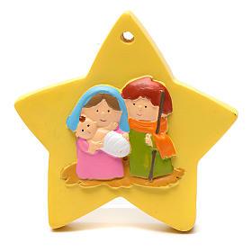 Décoration forme étoile nativité 8 cm s1