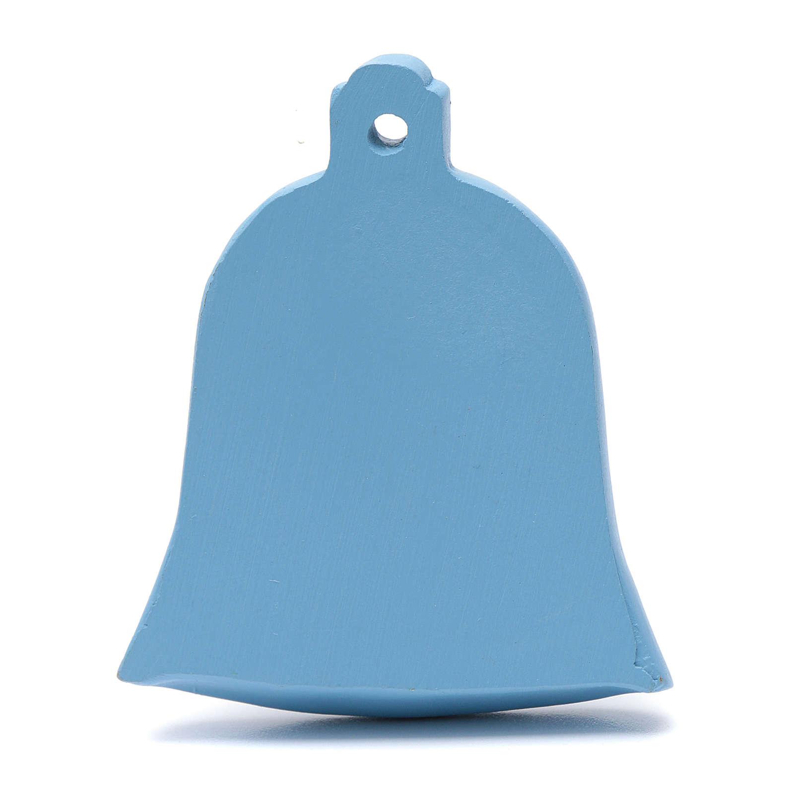 Decoración campanilla azul natividad 8 cm 4