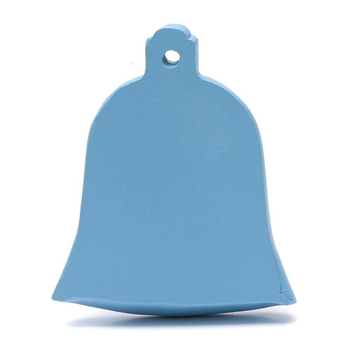 Décoration clochette bleu nativité 8 cm 2