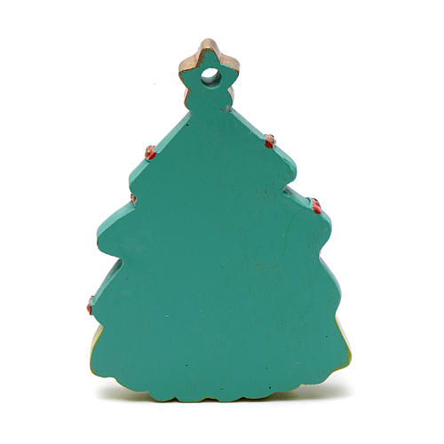 Nativity tree shaped decoration 8 cm 2