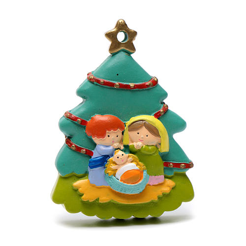 Nativity tree shaped decoration 8 cm 1