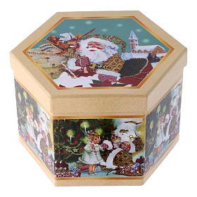 Boule Père Noël et enfants pour Sapin boîte 75 mm s4