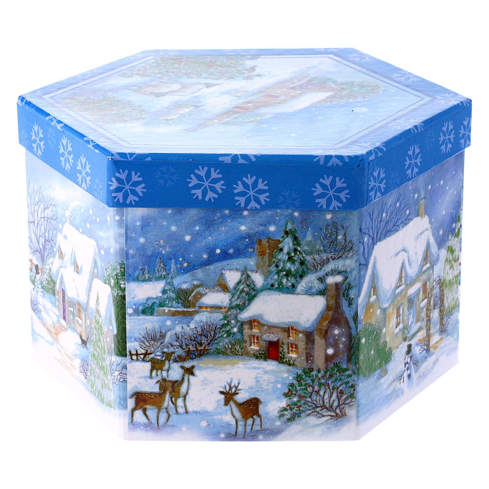 Pallina con paesaggio per Albero scatola 75 mm 4