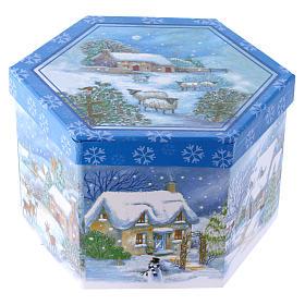 Pallina con paesaggio per Albero scatola 75 mm s4