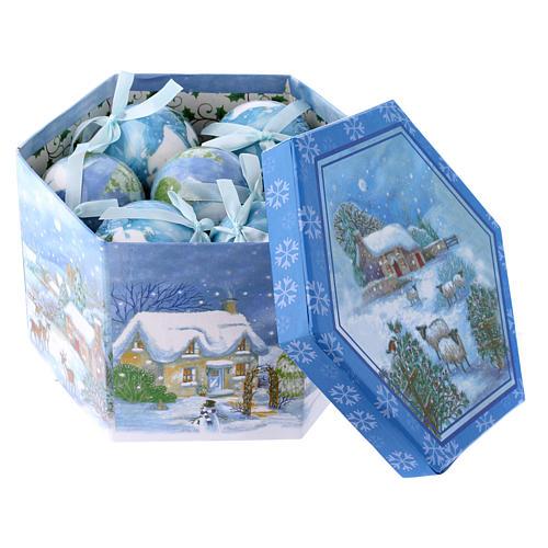 Pallina con paesaggio per Albero scatola 75 mm 3
