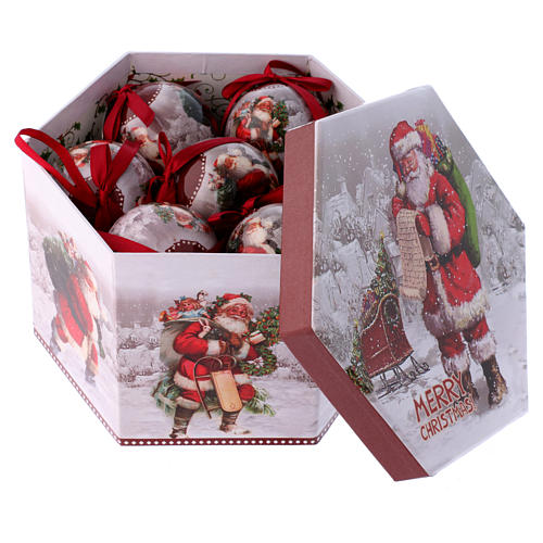 Christmas tree bauble Santa Claus image 75 mm 2