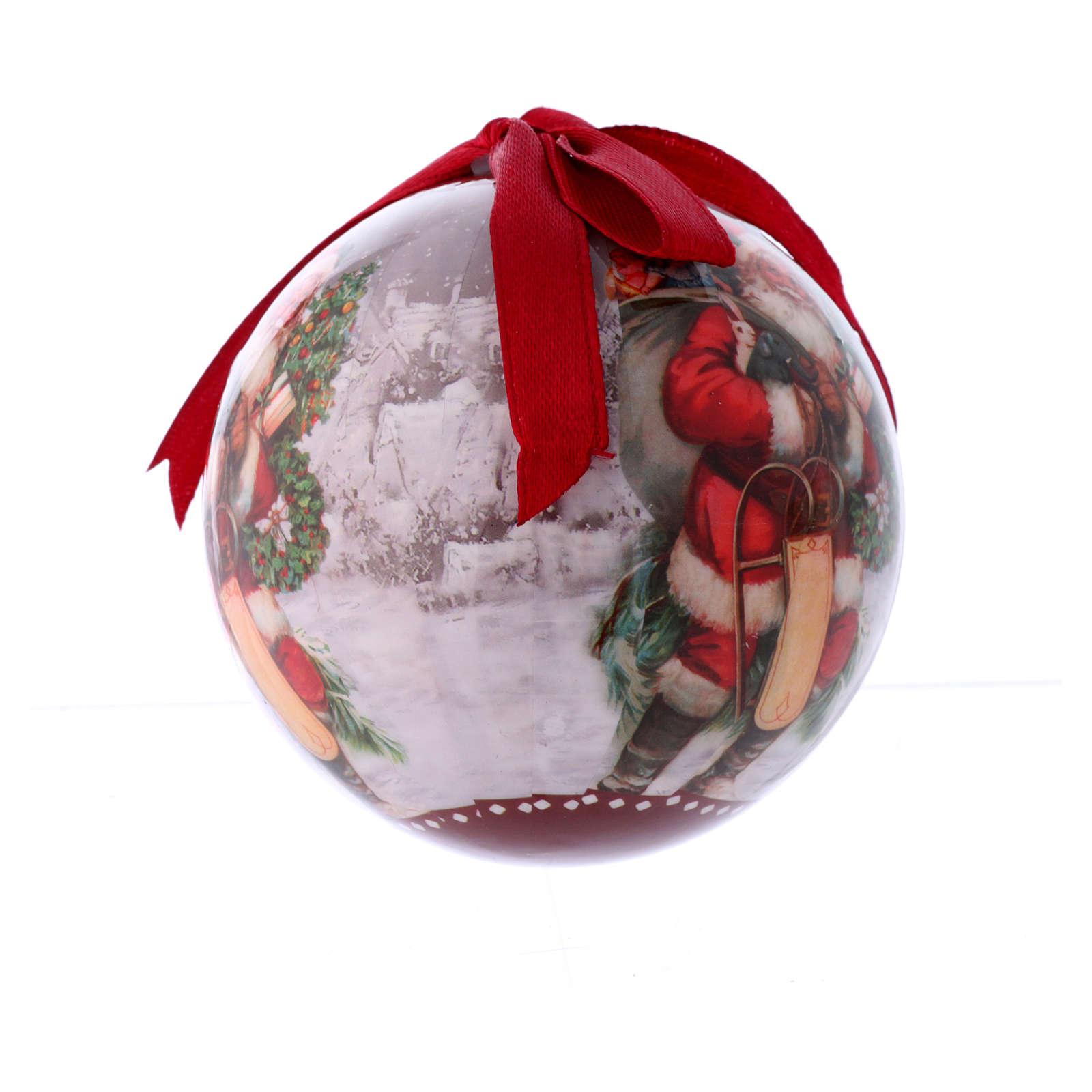 Pallina per Albero 75 mm immagine Babbo Natale 4