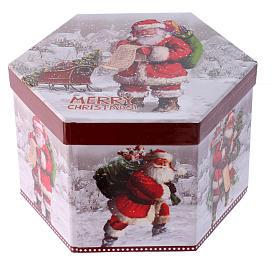 Pallina per Albero 75 mm immagine Babbo Natale s3