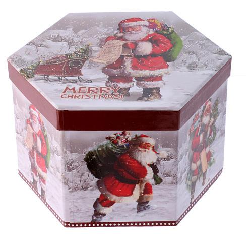Pallina per Albero 75 mm immagine Babbo Natale 3