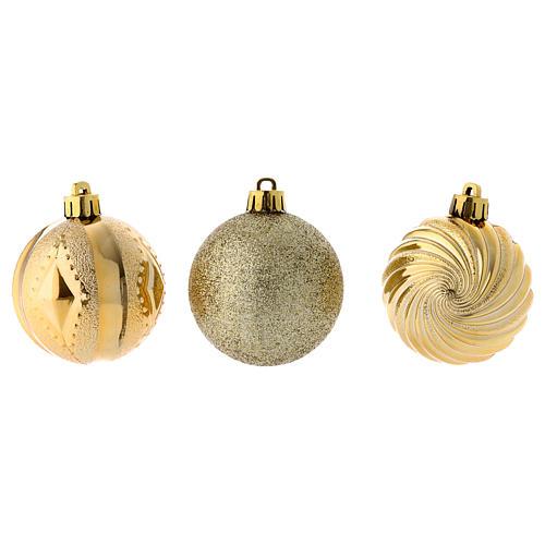 Bola Árbol Navidad oro 60 mm 12 piezas 3