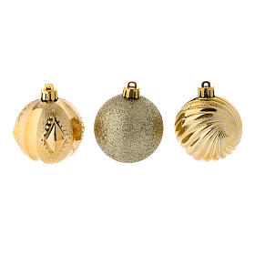 Christmas bauble 60 mm gold, 12 pcs s2