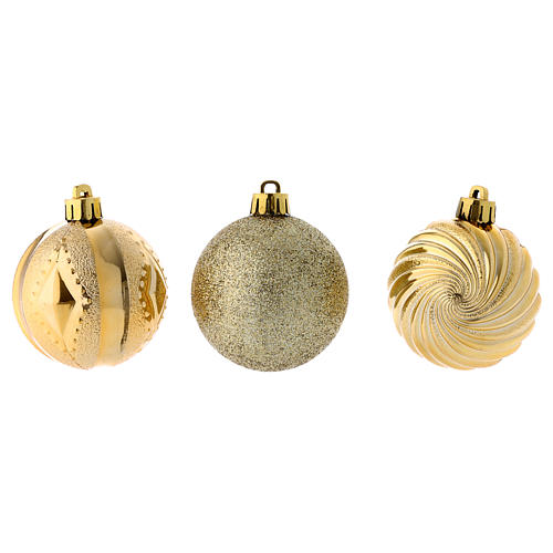 Christmas bauble 60 mm gold 3