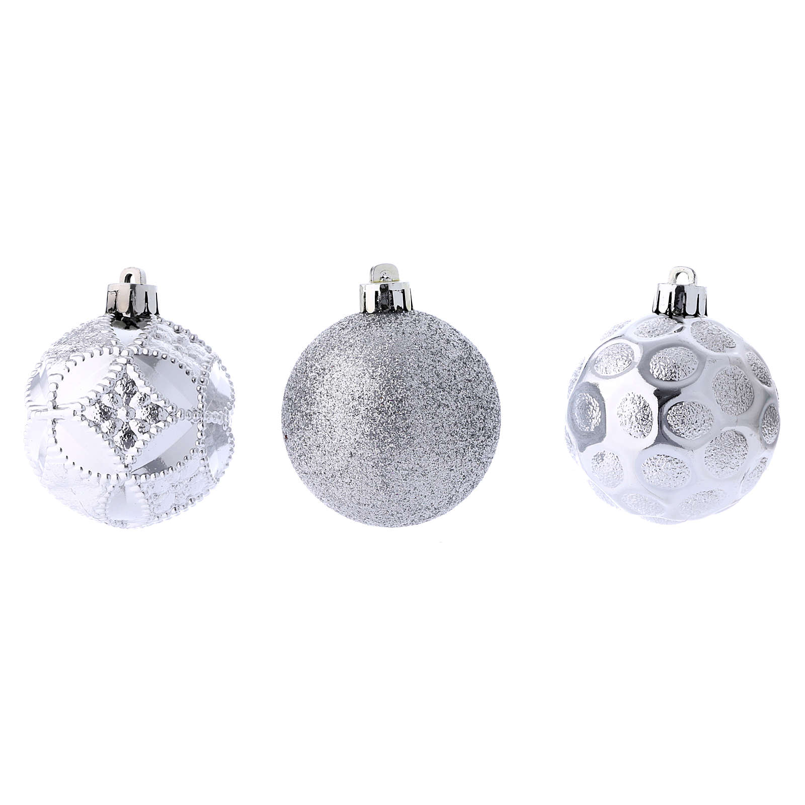 Christmas bauble 60 mm silver 4