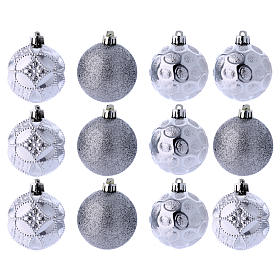Christmas bauble 60 mm silver s1