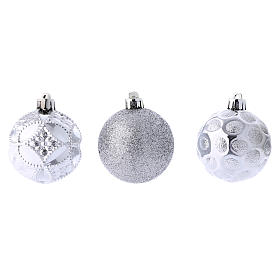 Christmas bauble 60 mm silver s3