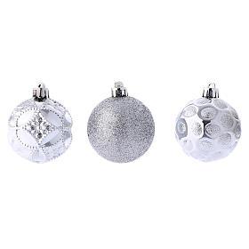 Boules Sapin Noël argent 60 mm (vendu par 12) s3