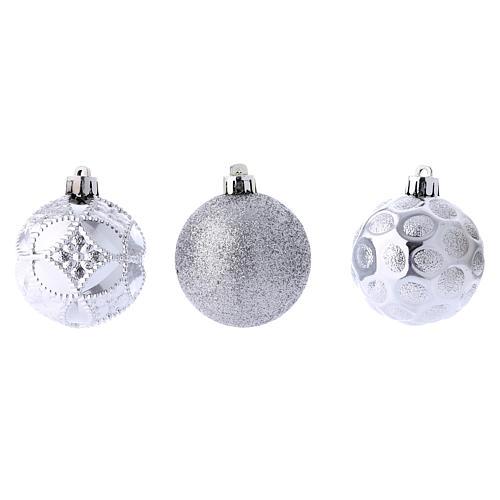 Boules Sapin Noël argent 60 mm (vendu par 12) 3