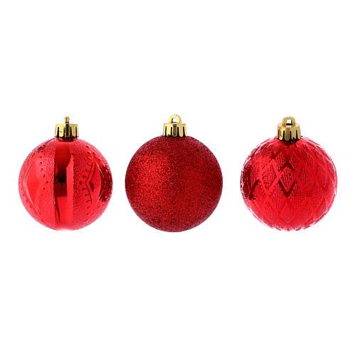Boules Sapin Noël 60 mm rouges (vendu par 12) 3