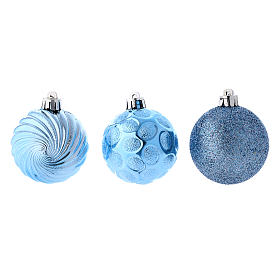 Christmas bauble 60 mm sky blue s2