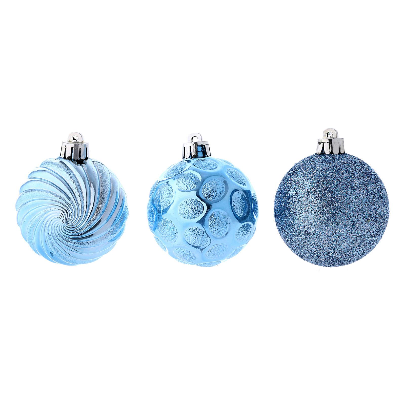 Boules Sapin Noël bleu 60 mm (vendu par 12) 4