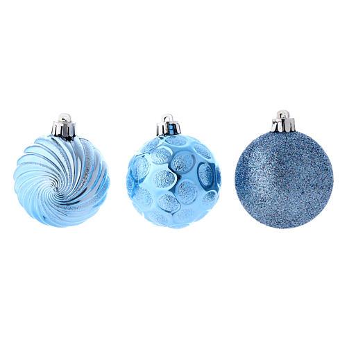 Boules Sapin Noël bleu 60 mm (vendu par 12) 2