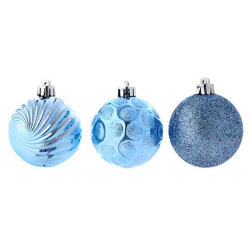 Boules Sapin Noël bleu 60 mm (vendu par 12) 3