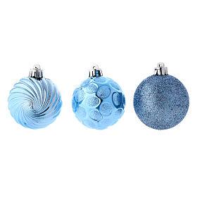 Pallina Natale 12 pz (confezione) color celeste 60 mm s2
