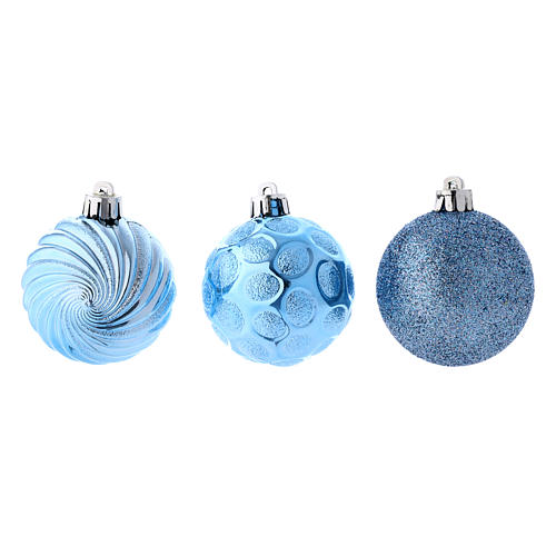 Bola árvore Natal azul 12 peças 60 mm 2