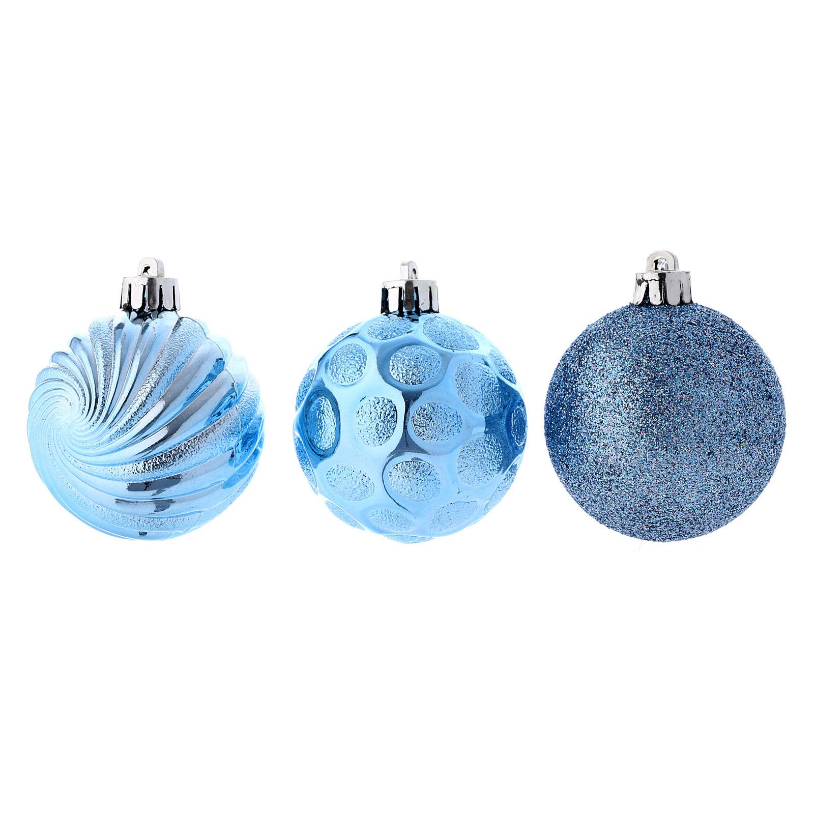 Christmas bauble 60 mm sky blue 4