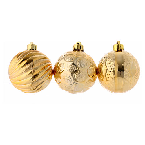 Bola Árbol Navidad oro 60 mm 2