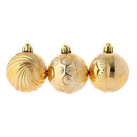 Palle Albero Natale 3 pz (confezione) dorata 60 mm s1