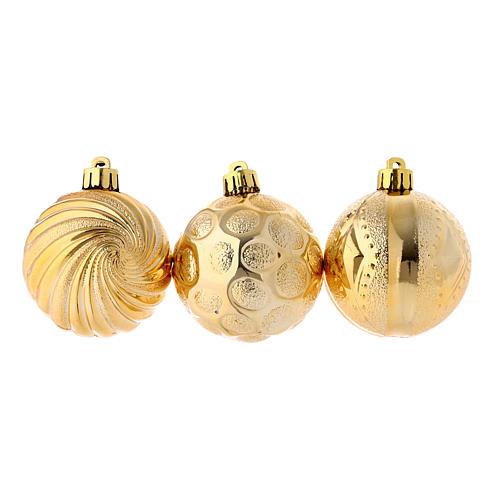 Christmas bauble golden 60 mm 1