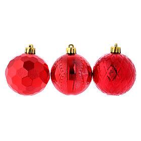 Palline Natale rosse 3 pz (confezione) 60 mm s1