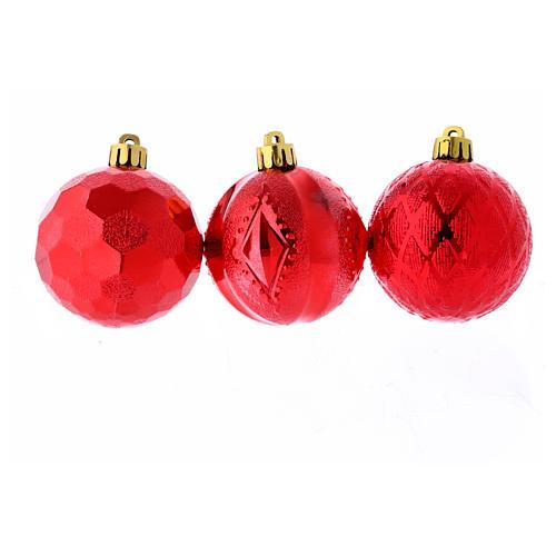 Palline Natale rosse 3 pz (confezione) 60 mm 2