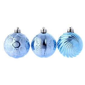 Boule Noël bleu clair 60 mm (vendu par 3) s1