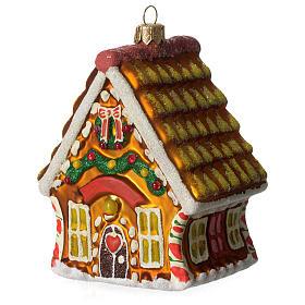 Casa di Pan di Zenzero addobbo vetro soffiato Albero Natale s1
