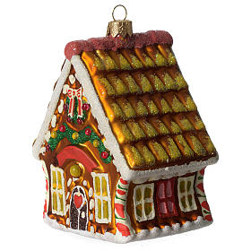Casa di Pan di Zenzero addobbo vetro soffiato Albero Natale s3