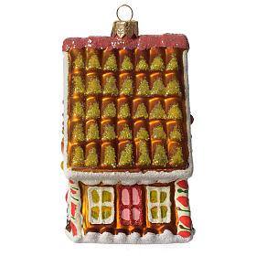 Casa di Pan di Zenzero addobbo vetro soffiato Albero Natale s4