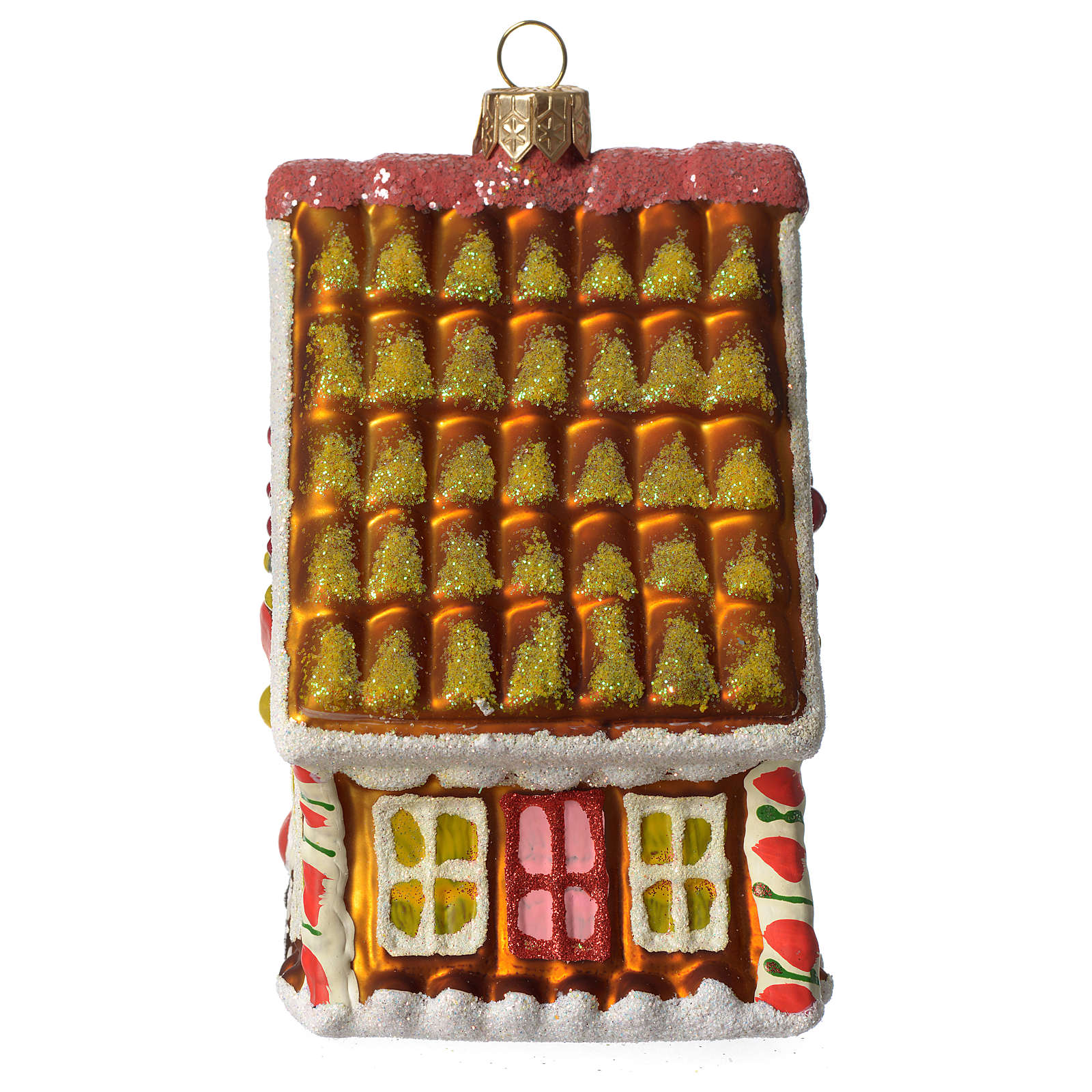 Gingerbread House blown glass Christmas tree ornament ...
