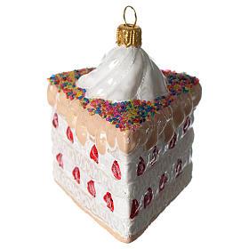 Torta a strati addobbo vetro soffiato Albero Natale s3