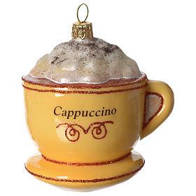 Cappuccino addobbo vetro soffiato Albero Natale s2