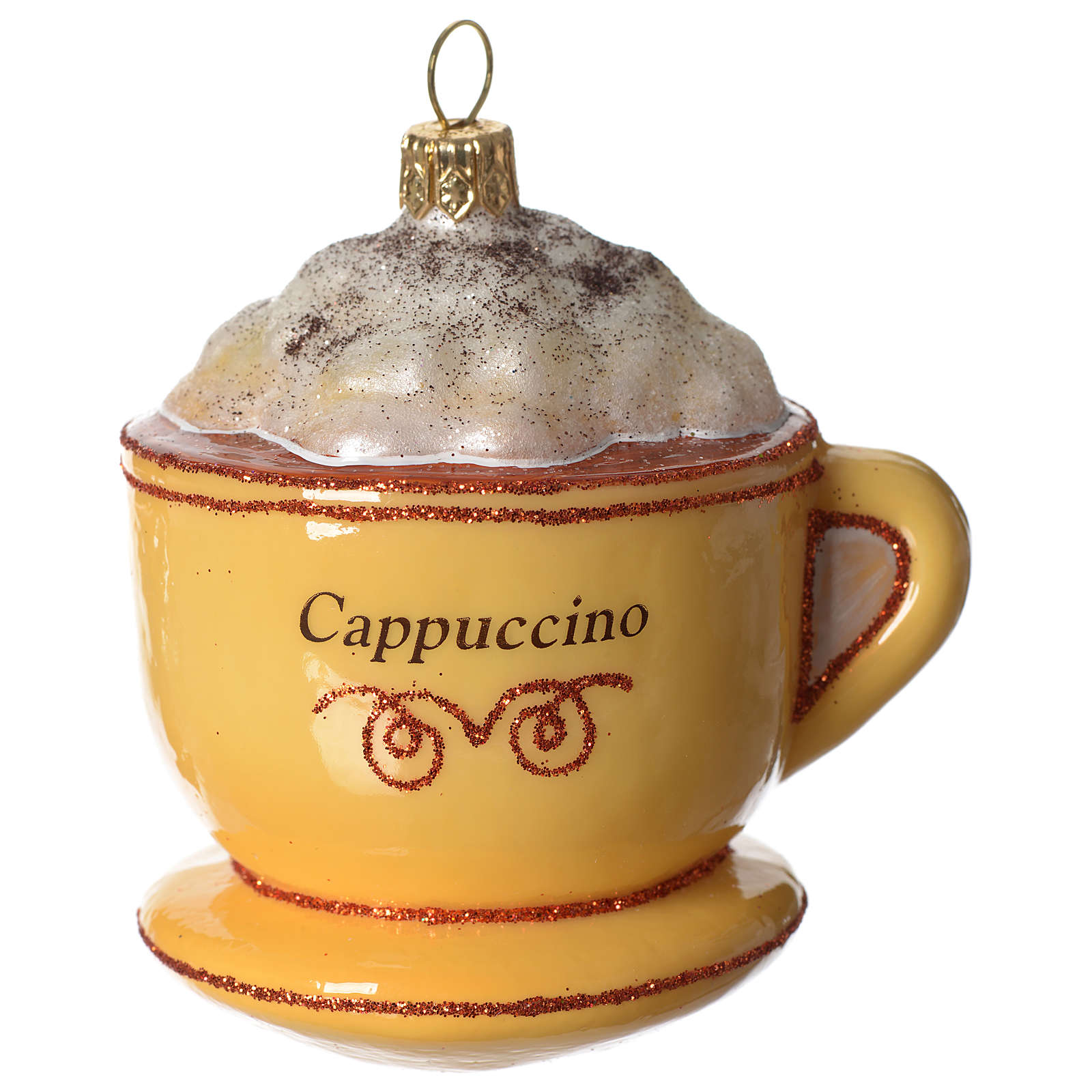 Cappuccino Cup blown glass Christmas tree decoration 4