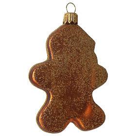 Père Noël en pain d'épices décoration verre soufflé Sapin Noël s3