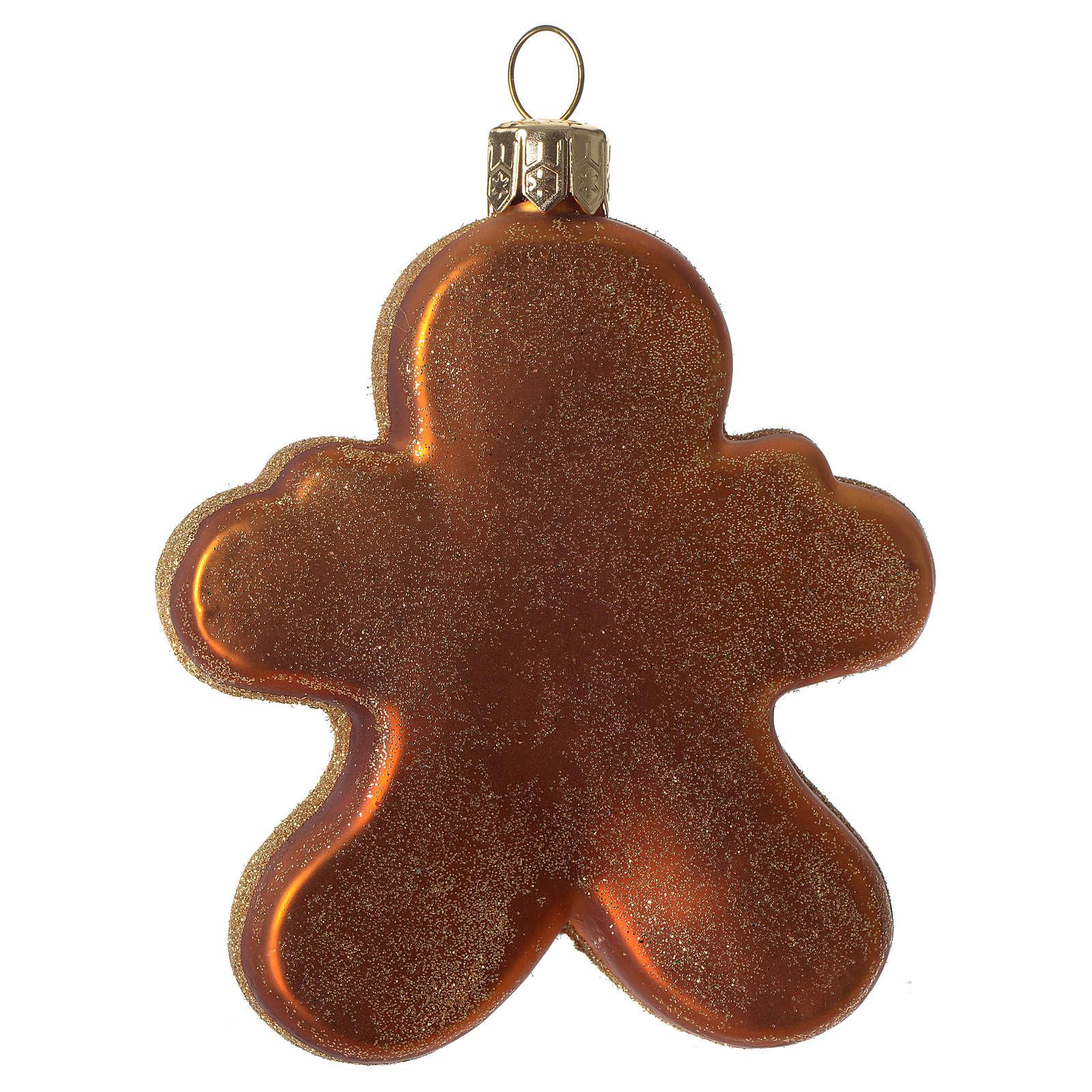 Omino di Pan di Zenzero addobbo vetro soffiato Albero Natale 4
