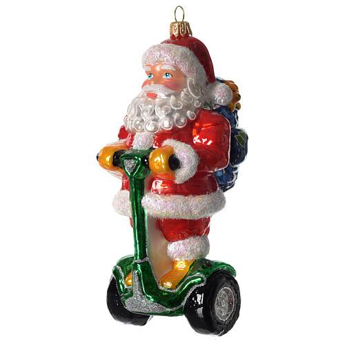 Babbo Natale su Segway addobbo vetro soffiato Albero Natale 1