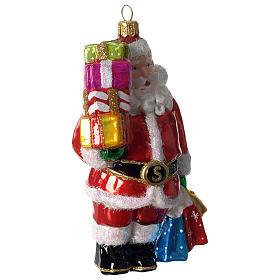 Papá Noel y regalos adorno vidrio soplado Árbol Navidad s2