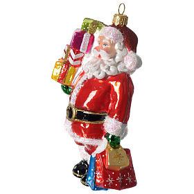 Babbo Natale e regali addobbo vetro soffiato Albero Natale s4