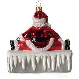 HOHOHO Babbo Natale addobbo vetro soffiato Albero Natale s4