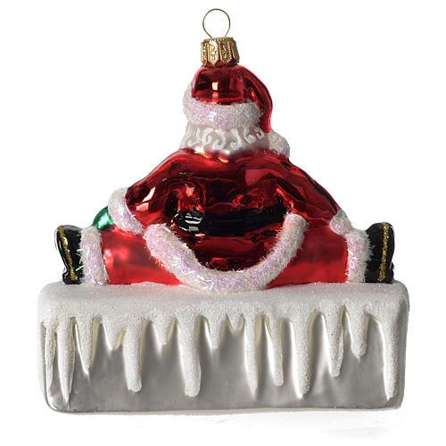 HOHOHO Babbo Natale addobbo vetro soffiato Albero Natale 4