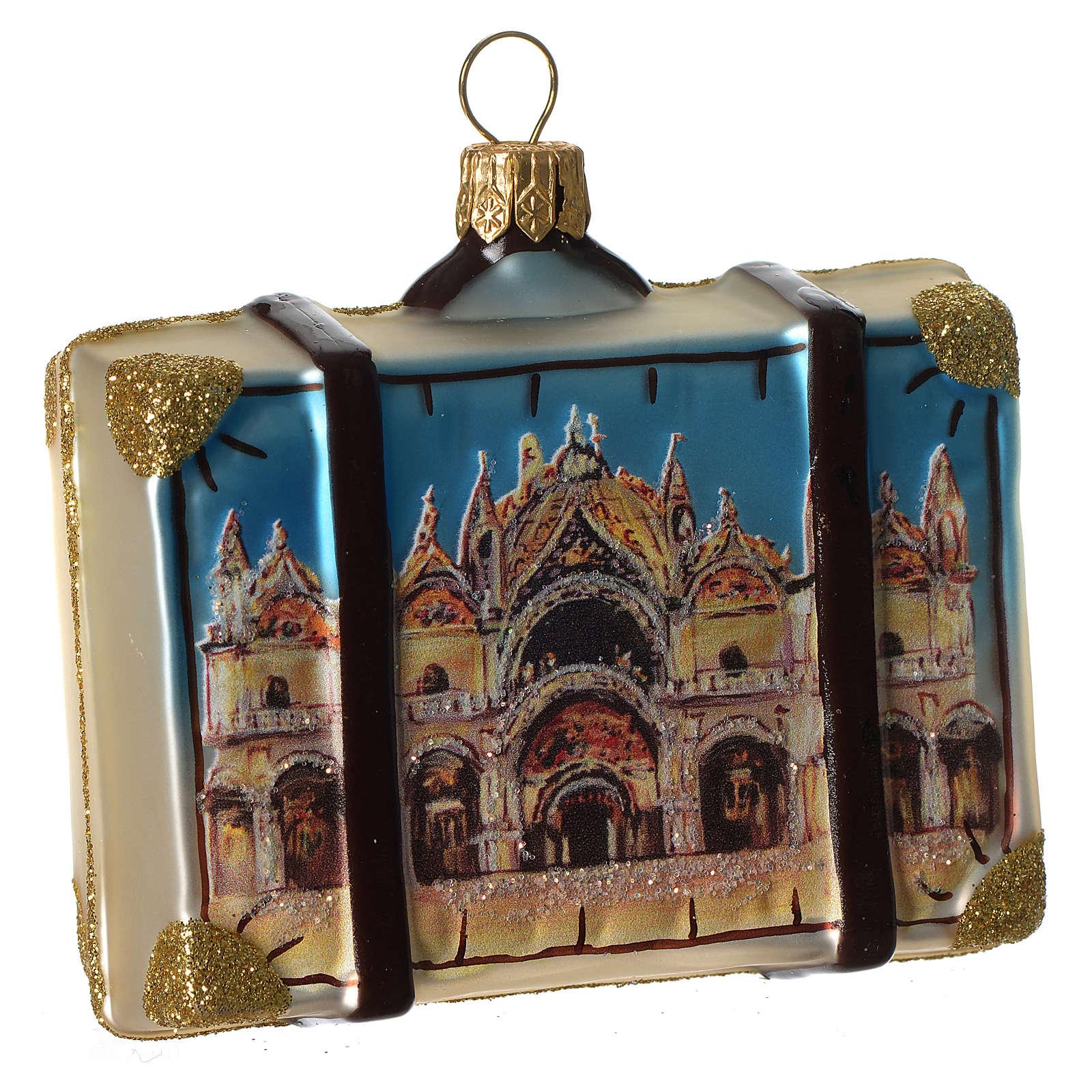 Maleta Venecia adorno vidrio soplado Árbol Navidad 4